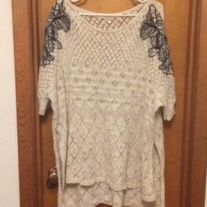 Anthropologie poncho sweater